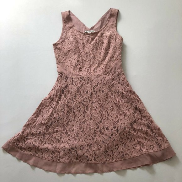 American Eagle Outfitters Women's Pink Lace Dress